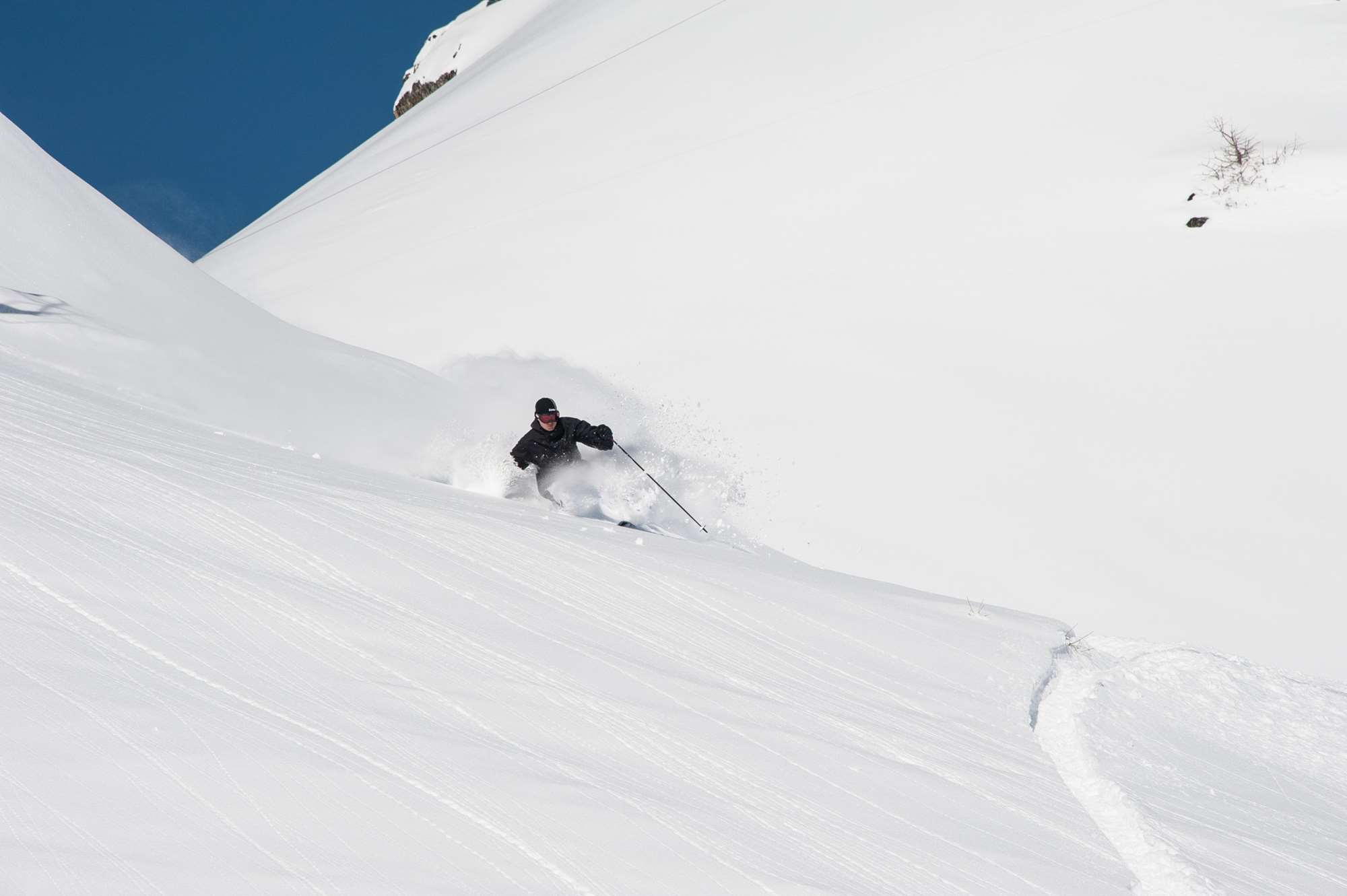 Playing in the powder in Serre chevalier