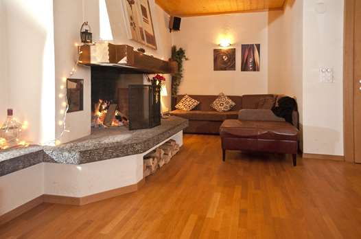 The lounge in the Chalet-Hotel Rosa Lauterbrunnen