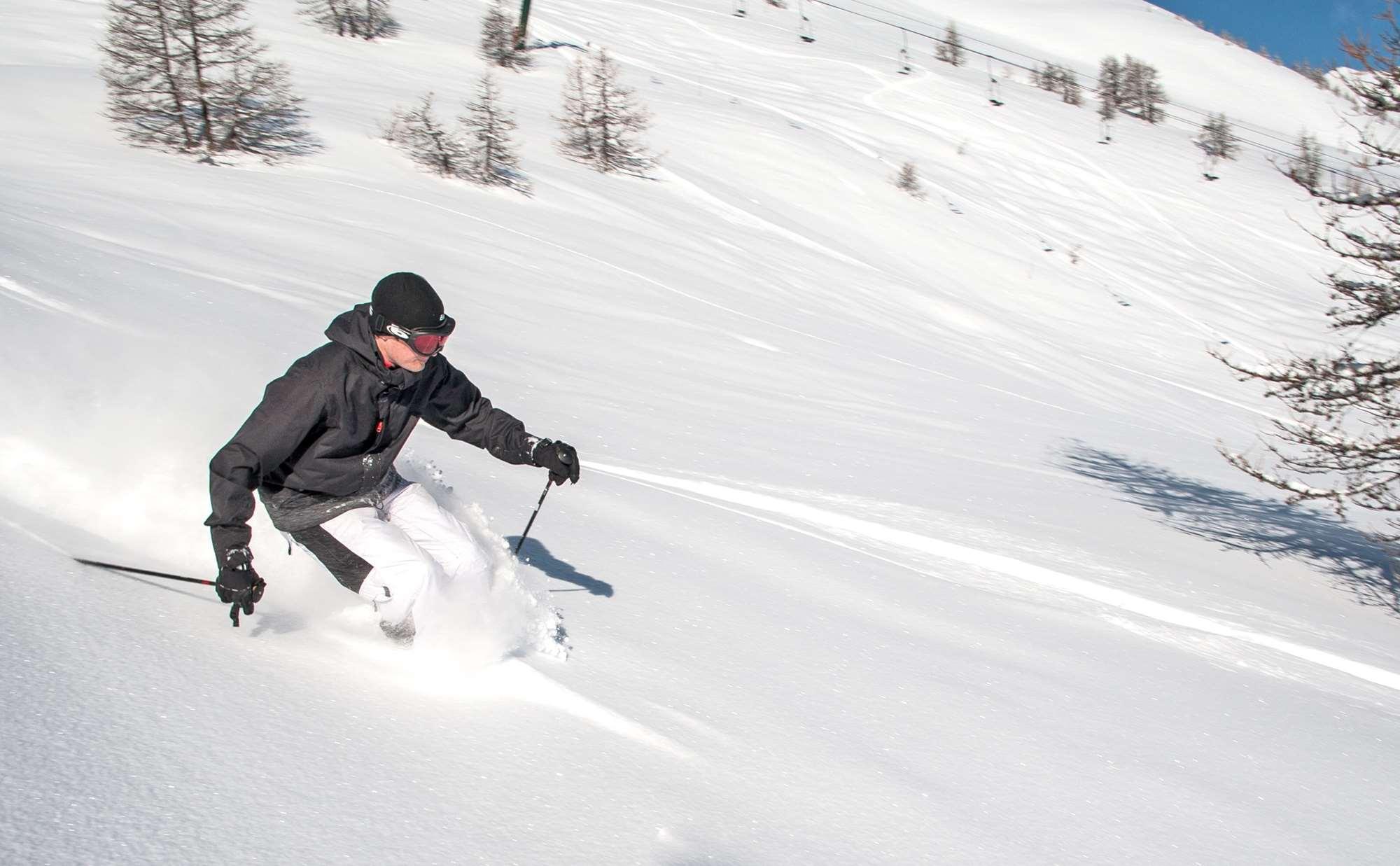 Skiing in Serre Chevalier