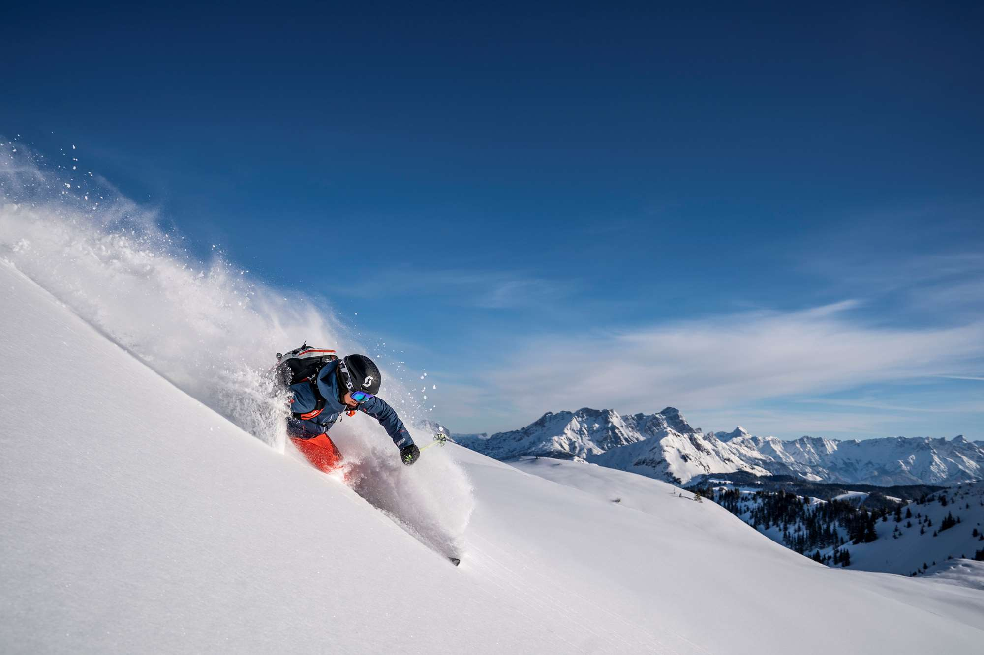 Off-piste skiing in Saalbach
