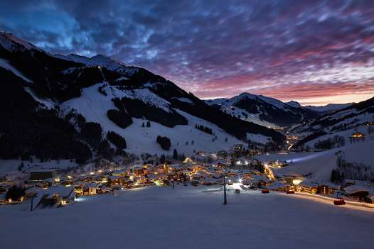 Saalbach at dusk