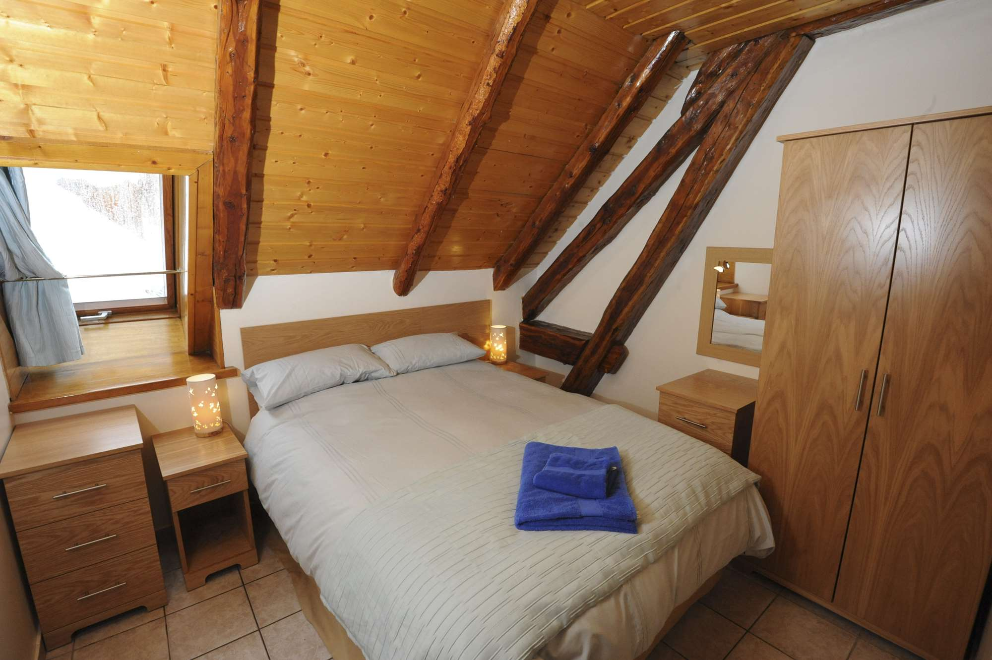 Double bedroom in Chalet-Hotel Charlotte