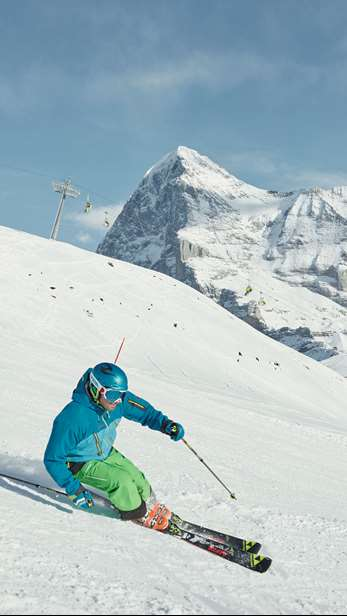 Skiing in Wengen
