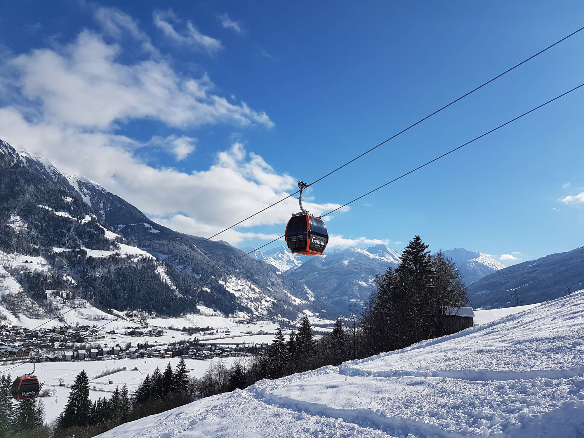 The new lift at Bad Hofgastein