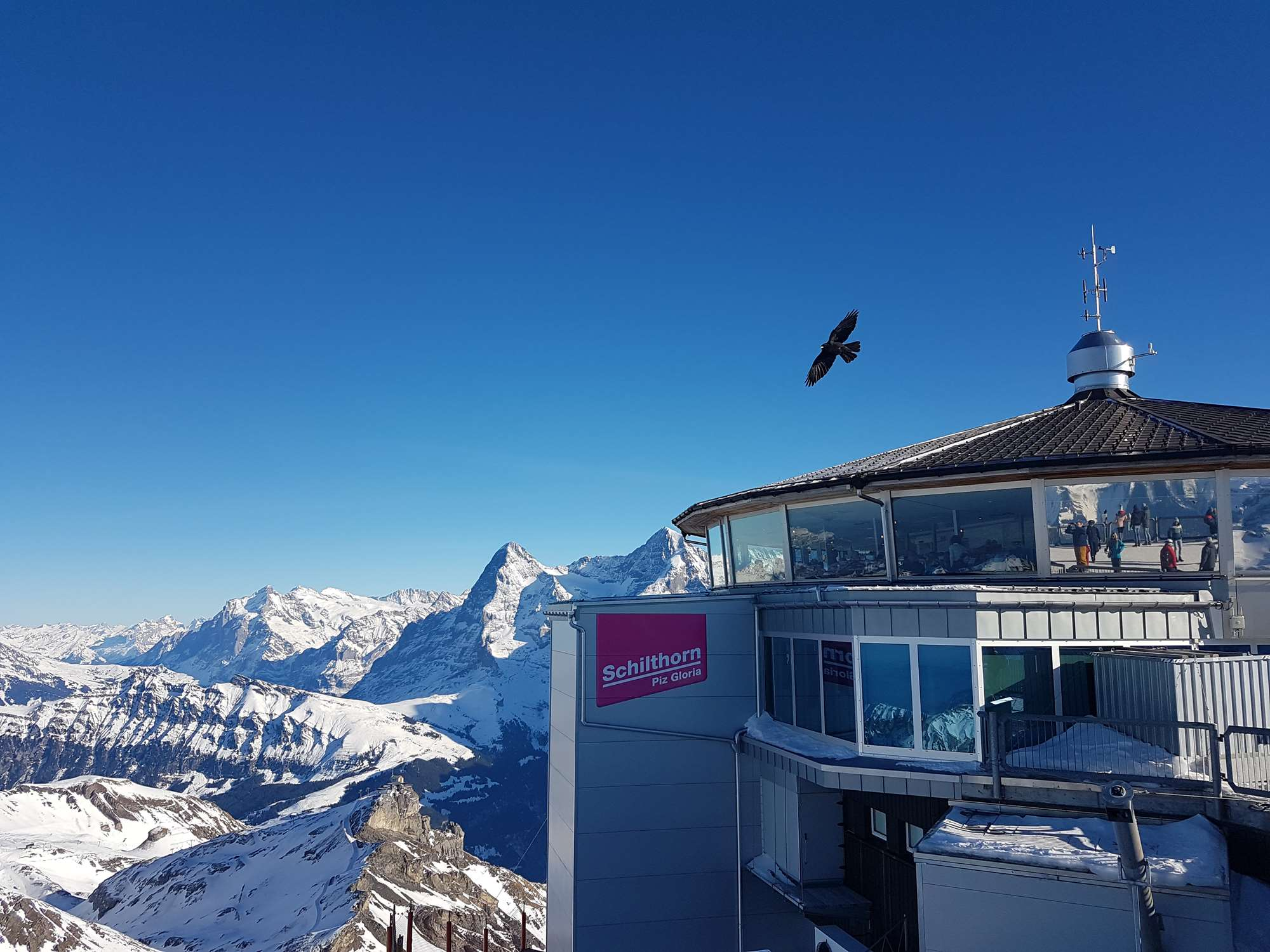 The Piz Gloria at the top of the Schilthorn