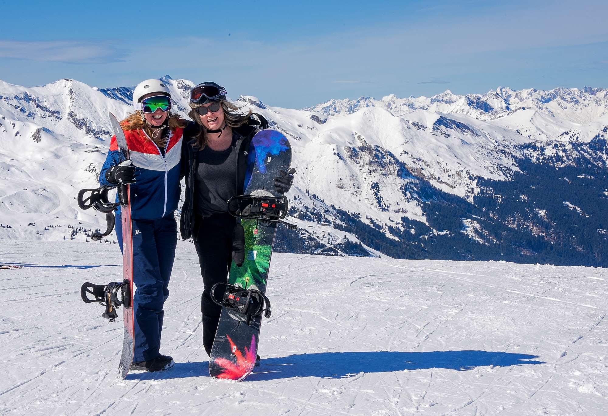 Snowboarding in Bad Gastein