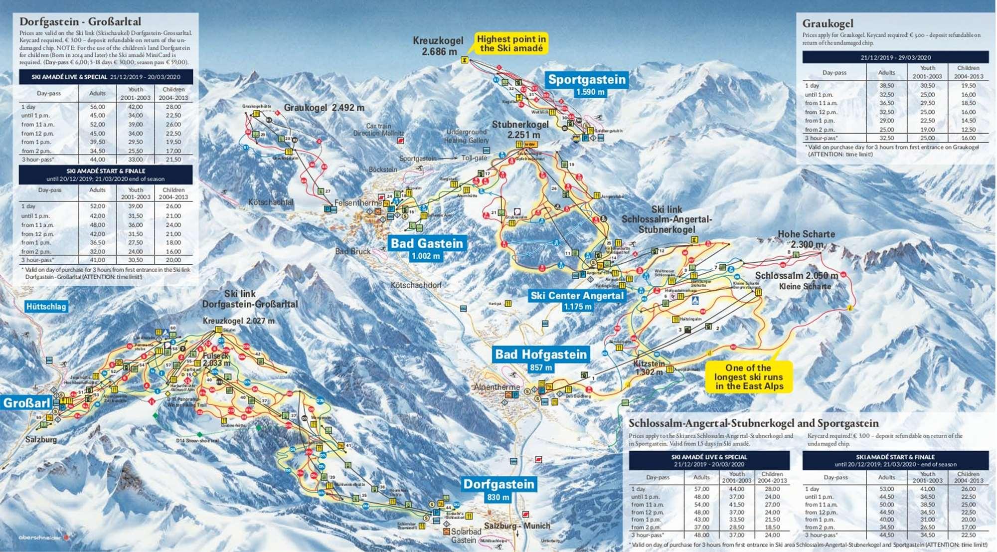 Bad Gastein Piste Map
