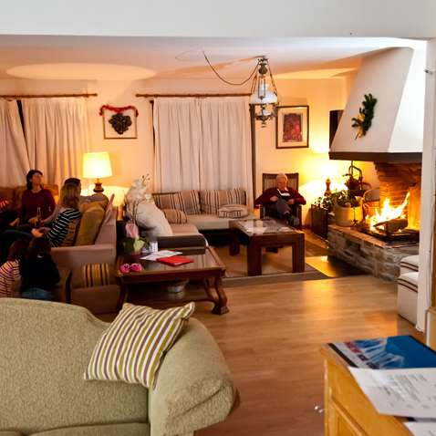 The lounge in the Chalet Salana in Baqueira