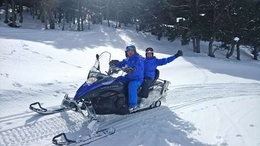 Snowmobiling in Baqueira
