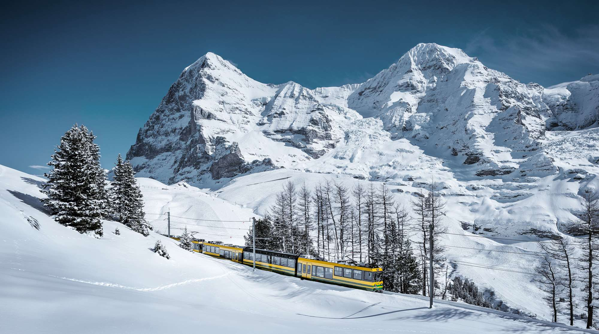 The mountain train to Wengen
