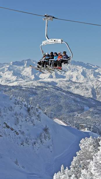 Chairlift in Baqueira