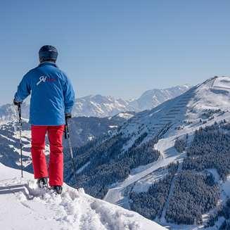 Overlooking the Saalbach valley