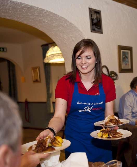 Serving dinner in the Tannenburg