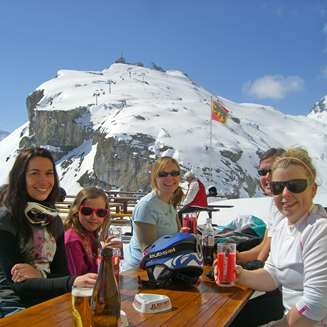 Eating on the mountain above Lauterbrunnen