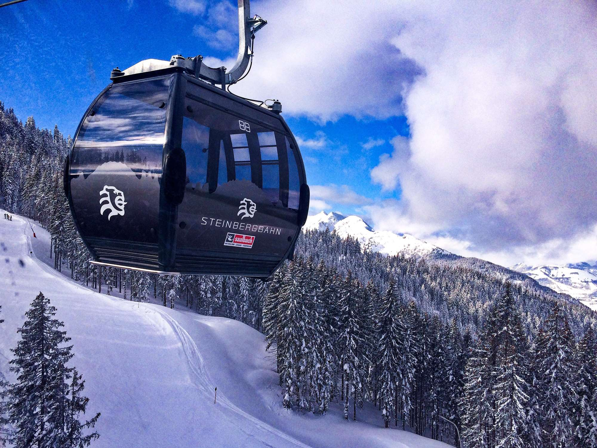 Gondola lift in Saalbach