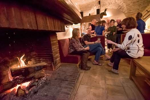The lounge in the Chalet-Hotel Charlotte