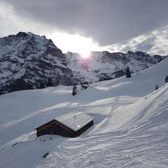 Swiss hut in Murren
