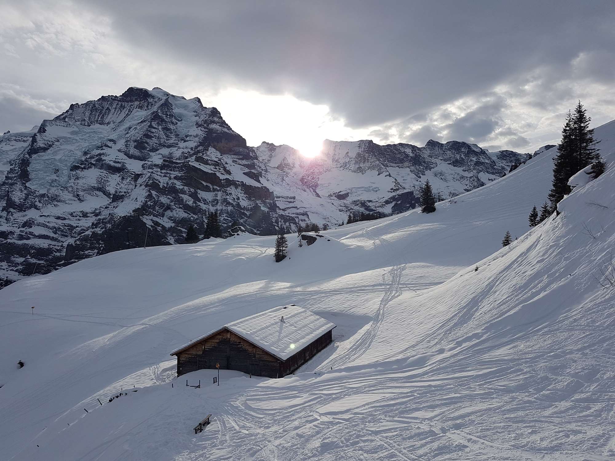 Swiss hut in Murren