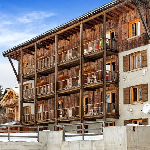 Exterior shot of the Chalet-Hotel Lucille