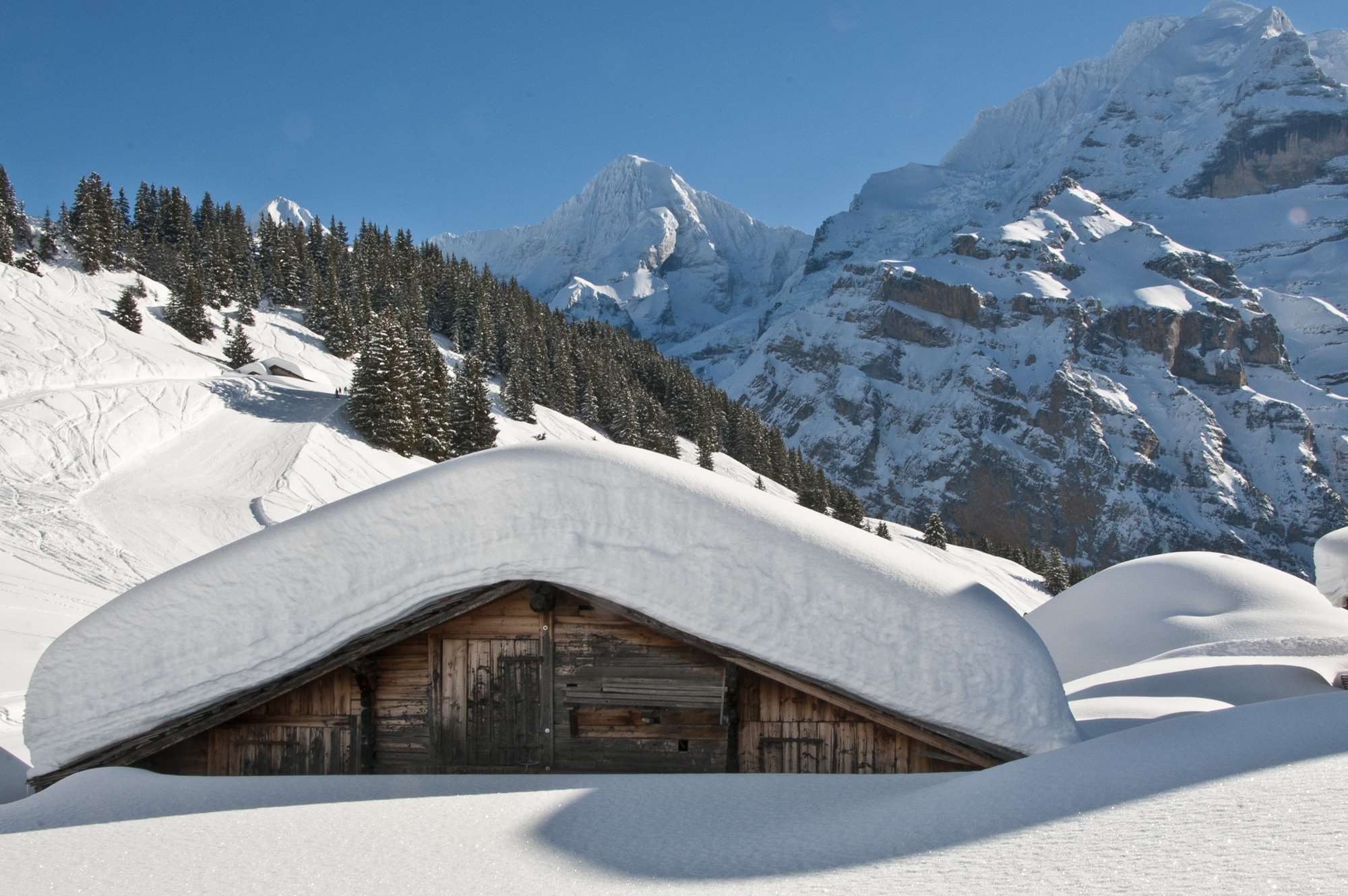 Swiss hut in Lauterbrunnen
