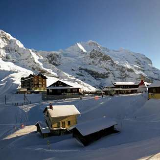 The Jungfrau peaks of the Eiger, Mönch and Jungfrau