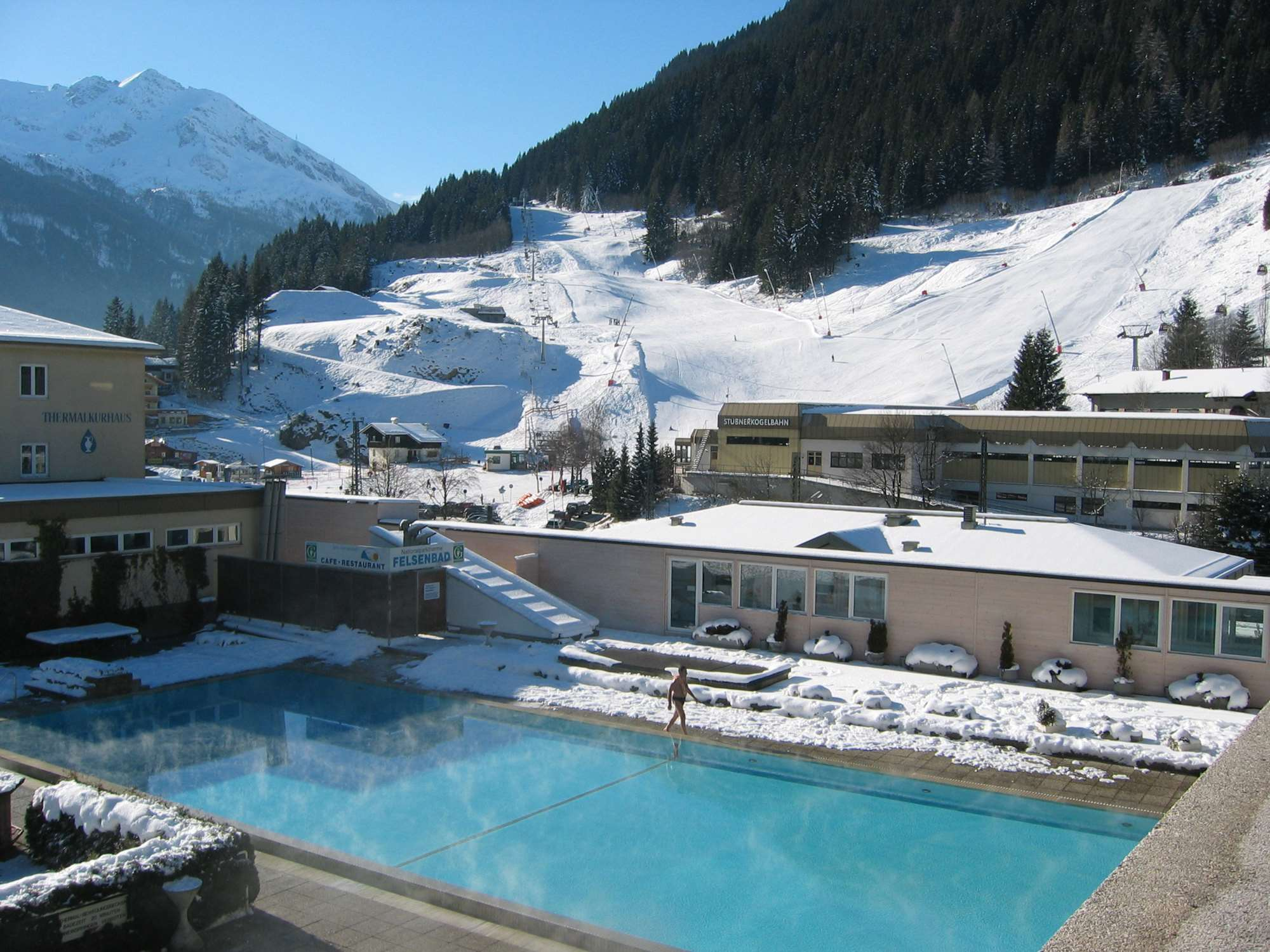 The thermal spa baths in Bad Gastein